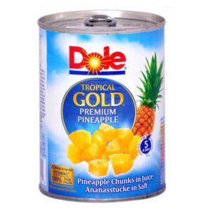 Ananas bucati in suc propriu Dole 567g