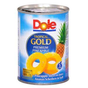 Ananas felii in suc propriu Dole, 567g